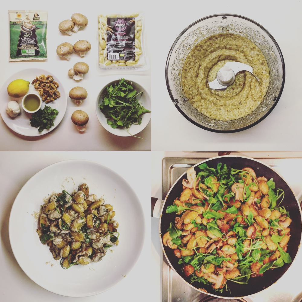 Gnocchi with Mushrooms & Walnut Pesto - The Beginner's Cookbook Recipe