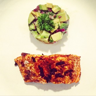 Salmon with Avocado Salsa - The Beginner's Cookbook recipe